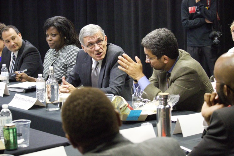 Journalism and Media Studies Professor Phil Napoli participates in a September rountable discussion with FCC chairman Tom Wheeler